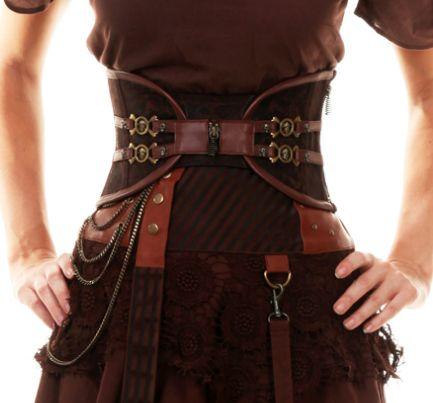 Steampunk corset belt ::instacovet::