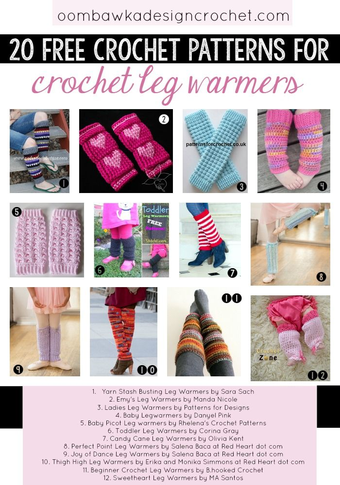 20 Free Patterns for Crochet Leg Warmers #legwarmers #freepatterns #crochet