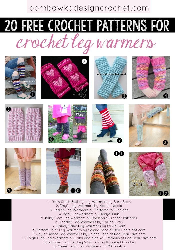 20 Free Patterns for Crochet Leg Warmers #legwarmers #freepatterns #crochet
