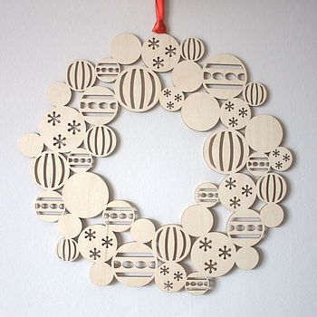Bauble Wreath Modern Christmas Decoration