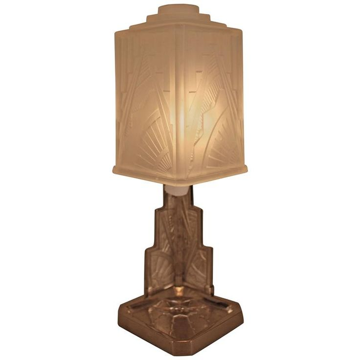 French Art Deco Table Lamp by Des Hanots | From a unique collection of antique and modern table lamps at https://www.1stdibs.com/furniture/lighting/table-lamps/