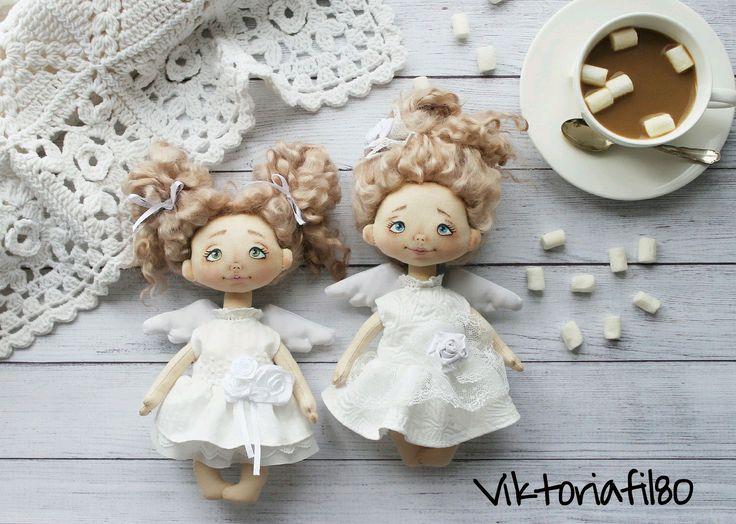 Купить Текстильная куколка Ангел - ангелочек, ангел, ангел ручной работы…