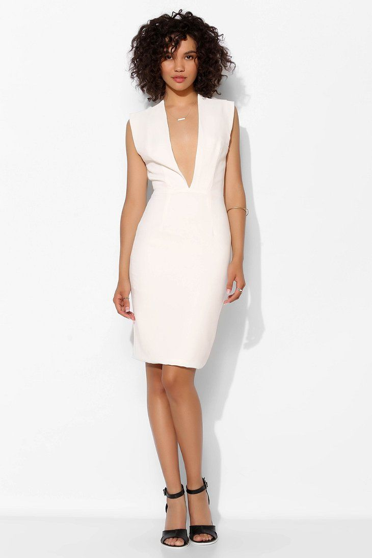Solace London Conquest Deep-V Bodycon Dress