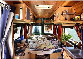 @alwaystheroad has been living in this Sprinter van for the last 8 months. Love the homey feel! ————— Show off your Sprinter Van! Tag #sprintercampervans to be featured! —————