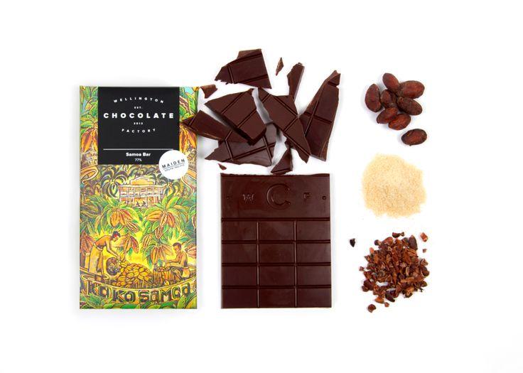 Samoa Bar 77% - Single Origin   Wellington Chocolate Factory