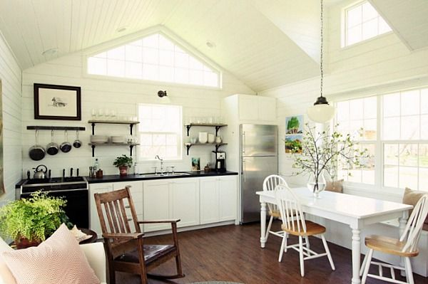 """685 sq foot house showcased in Country Living Magazine:  """"Learning to Love Living with Less in a Little House"""""""