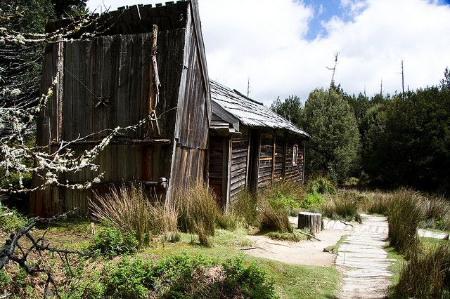 Du Cane Hut, an old trappers hut which was once known as Windsor Castle. It's built of timber shingles and is registered by the National Trust.