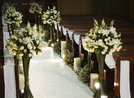 igreja com velas