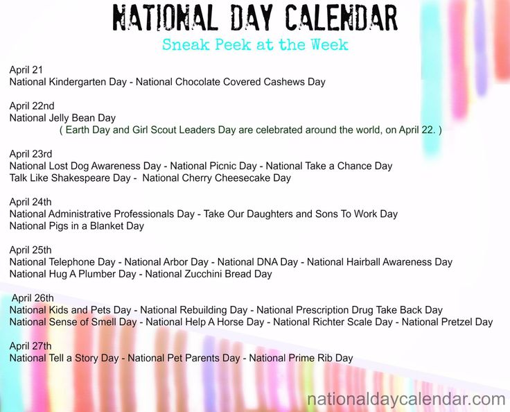 April Calendar National Days : Best every day is a to celebrate something images