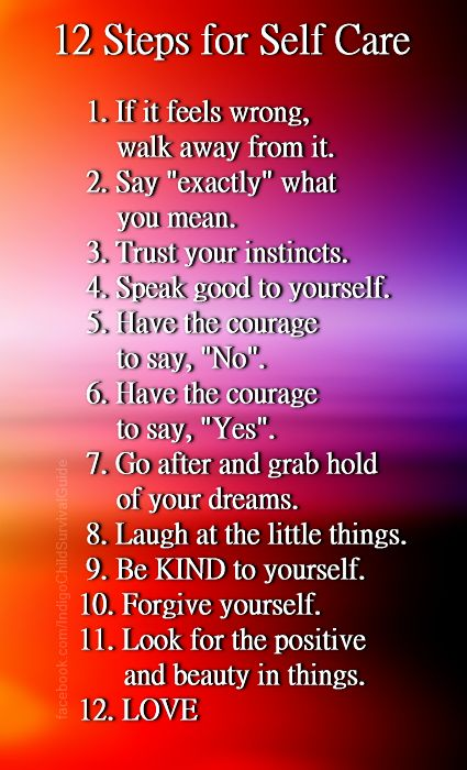 12 Steps for Self Care