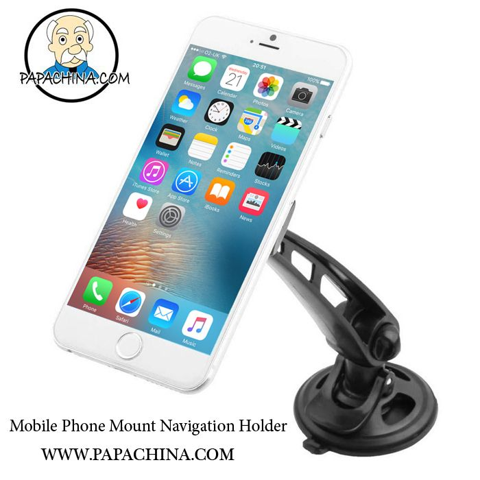 Universal Car Mobile Phone Mount Navigation Holder has bestowed some of the handy way of diversified features like adjustable knob, I-beam arm, advenced silica gel pad, 360 degree rotation, rotatable head, adhesive-free pad, anti slip, anti scratch that will provide a huge amount of recognition for your company among your customers and make it an unforgettable brand by using it for holding phone.