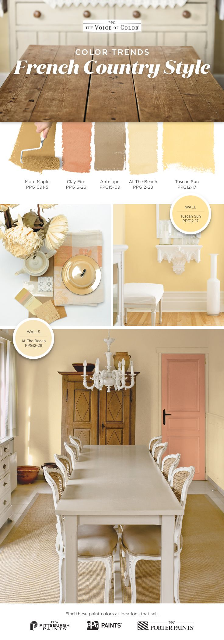 French Country Color Palette! You don't need a getaway in Provence to feel