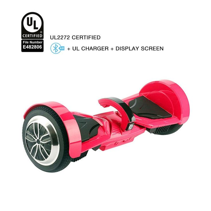 Latest Patented T5 Rose Red Hoverboard UL 2272 Certified Safe Hoverboard  With 4.0 Bluetooth Speaker