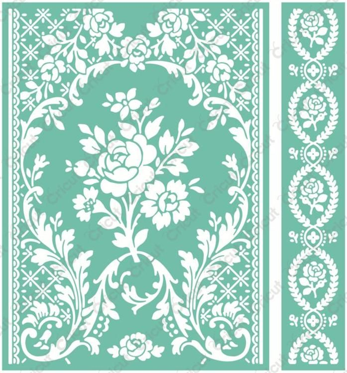 "Cricut Cuttlebug™ 5"" x 7"" Embossing Folder & Border, Rose Pavilion, Anna Griffin."