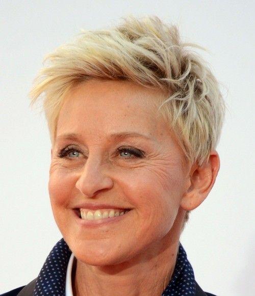 Ellen Degeneres, short blonde hair cuts, short hair gallery
