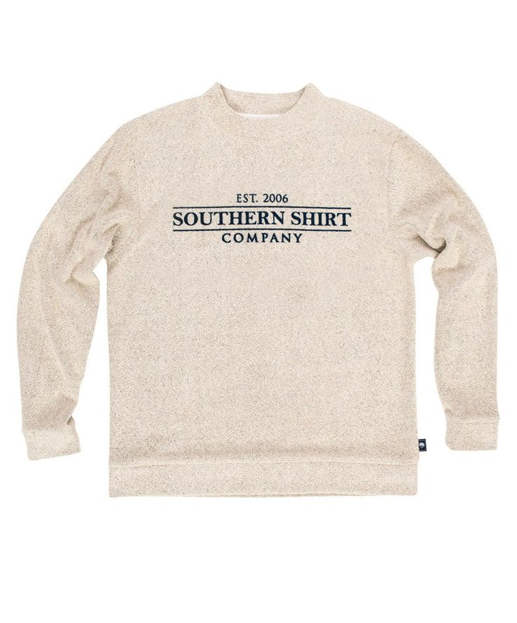 The first time you wear it, it feels like you've owned it for years! This comfy pullover is perfect in every way! Say hello to the Loop Knit Terry Pullover from Southern Shirt! 80% Cotton. 20% Polyest