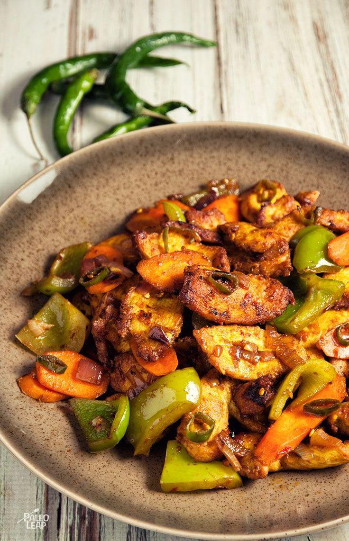 Spicy Indian Chicken Stir Fry | Paleo Leap