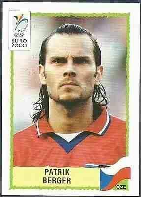 Patrik Berger of Czech Republic. 2000 European Championship card.