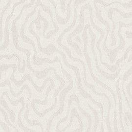 Papel pintado Caselio colección Silence mapa topográfico plateado brillante fondo blanco roto SLN67750008 imágenes