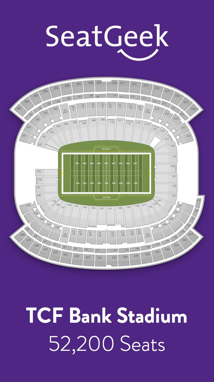 Find the best deals on Minnesota Vikings tickets and know exactly where you'll sit with SeatGeek.