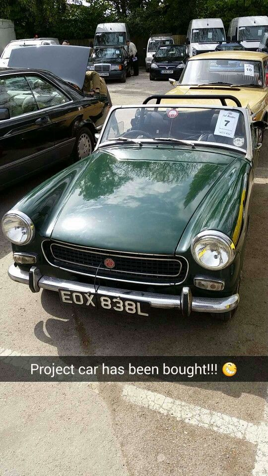 1972 MG Midget - on day of purchase March 2015