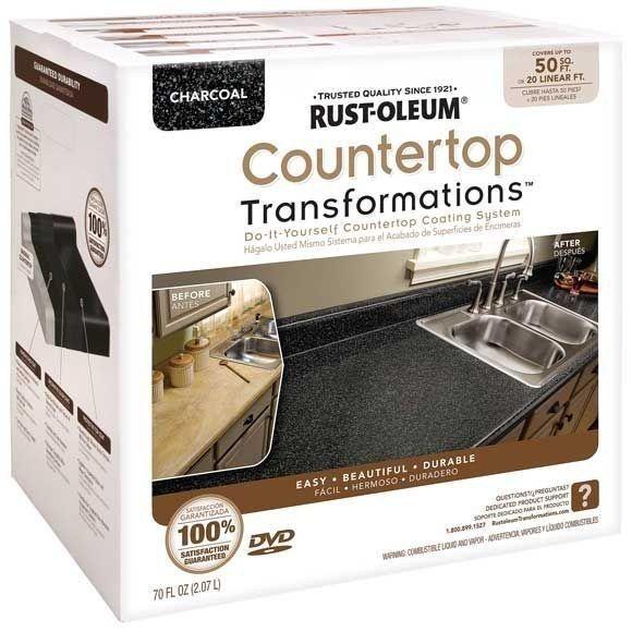 Cubre el nuevo mostrador de tu cocina para que parezca de piedra fina. | 25DYI's sencillos y económicos que mejorarán enormemente tu hogar