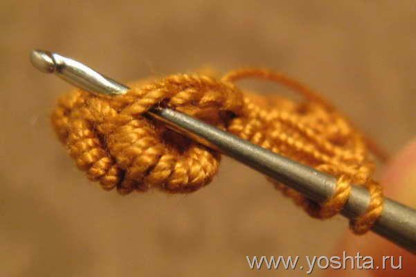 Вязание витого столбика. Способ 2. Фриформ. | Уголок Yoshta