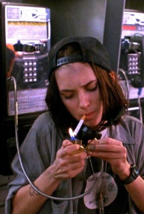 vintagesalt:  Winona Ryder in Night on Earth (1991)