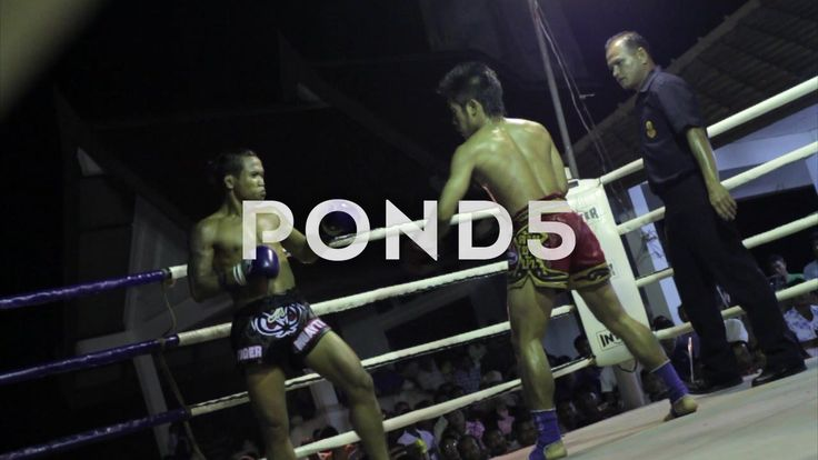 Muay Thai Boxing Fight Knockout Finish KO Outdoor Ring Combat Sport Thailand - Stock Footage | by RyanJonesFilms