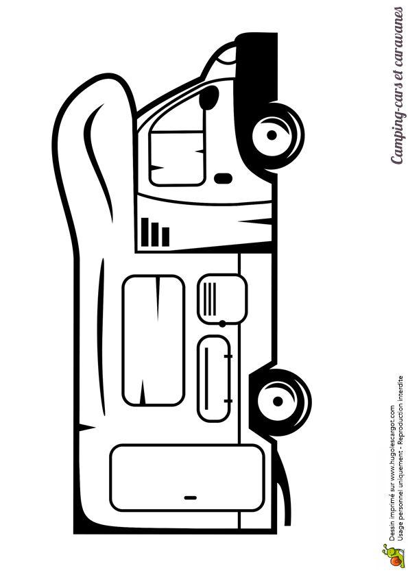Les 86 meilleures images du tableau coloriages de camions sur pinterest camions chantier et - Camping car a colorier ...