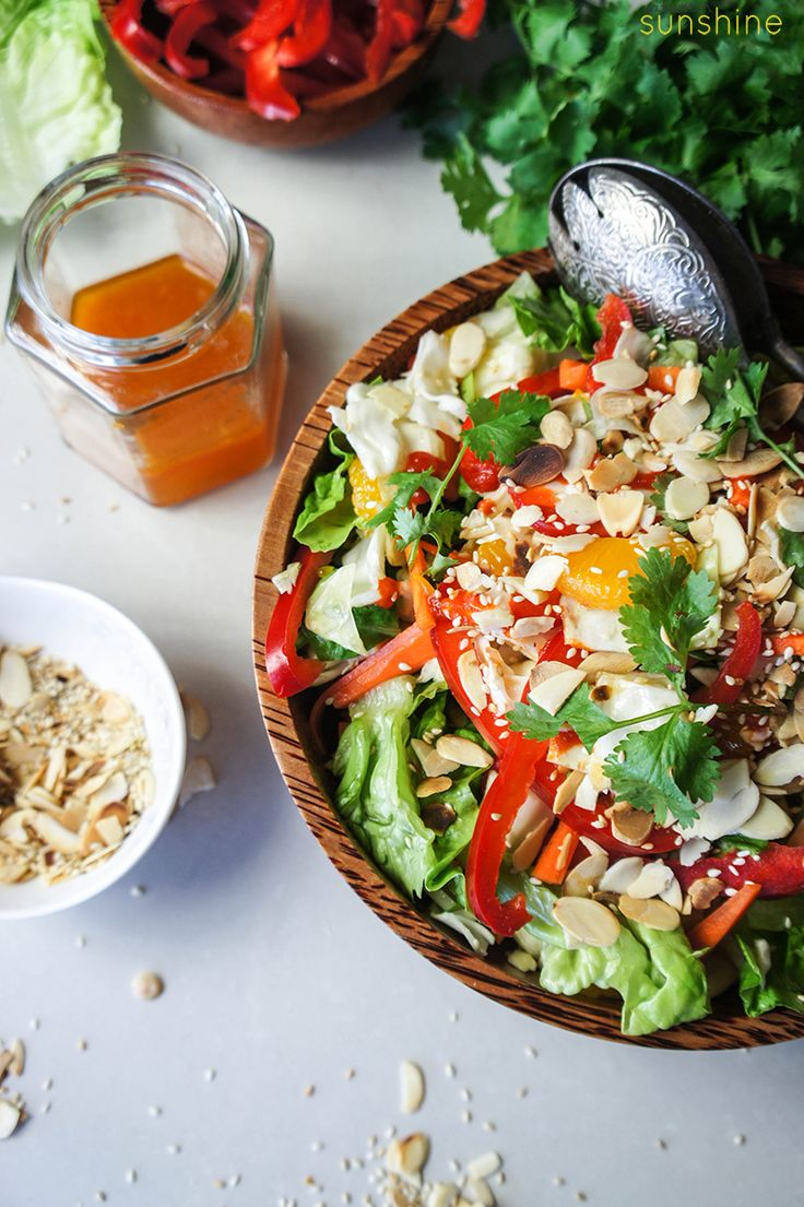 Addictive Asian Cabbage Salad -- filled with crunch and a dressing that will have everyone heaping seconds on their plates!