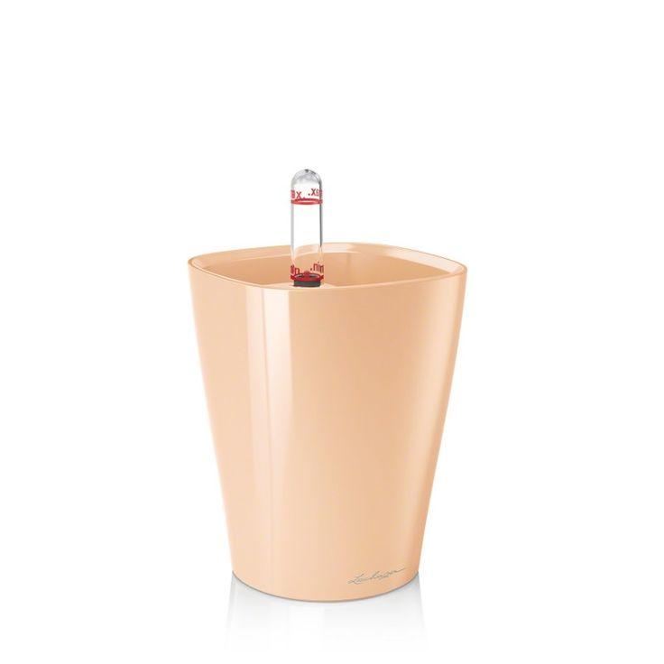 Vaso MINI-DELTINIcon sistema di AUTO-IRRIGAZIONE - 10 x 10xh.13 cm - disponibile in 7 COLORI