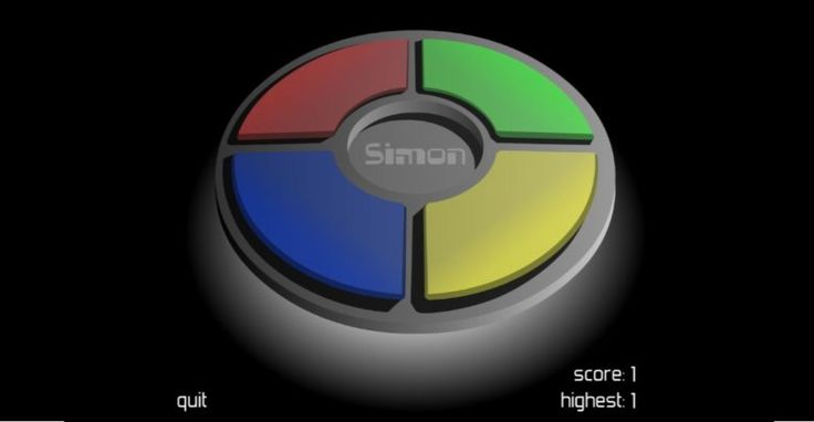 Simon Says Game for your Interactive Screen