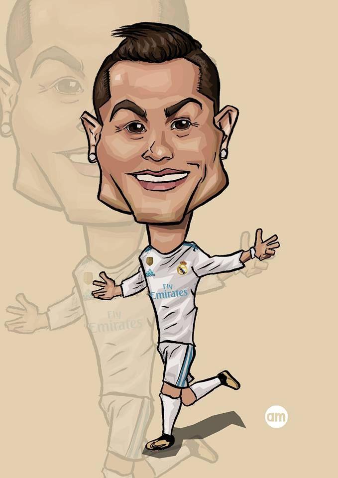 Cristiano Ronaldo. Cr7. Real Madrid. Caricature ...