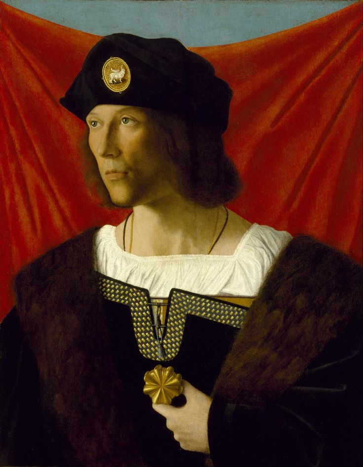 Bartolomeo Veneto  (1470–1531)   (1502/1531)  Portrait of a Man  1512  Oil on wood	  w52.1 x h70.8 cm (without frame)  Museum of Fine Arts, Houston
