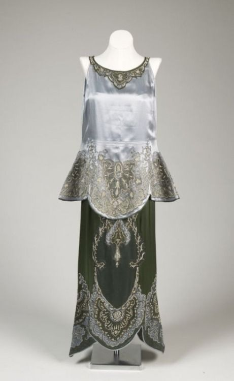 Callot Soeurs evening ensemble ca. 1918 From the De Young Museum