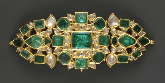 India, 19th century. Emeralds