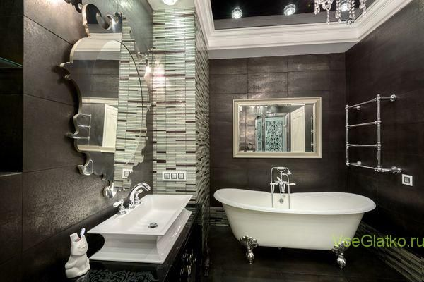 Стиль Арт-деко в интерьере ванной-1 http://vseglatko.ru/смешанные-стили-интерьера/ #стили_интерьера #смешанные_стили #дизайн #дизайн_квартир #дизайн_домов #дизайн_помещений #стили
