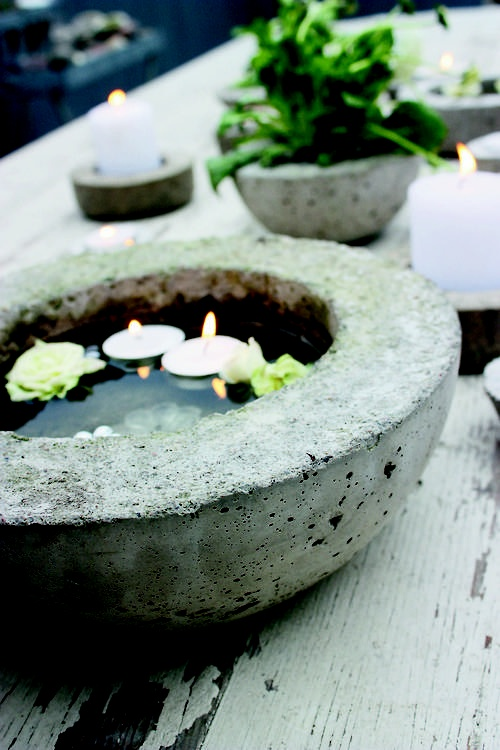 Hand-made concrete features for the backyard, found inside Concrete Garden Projects.