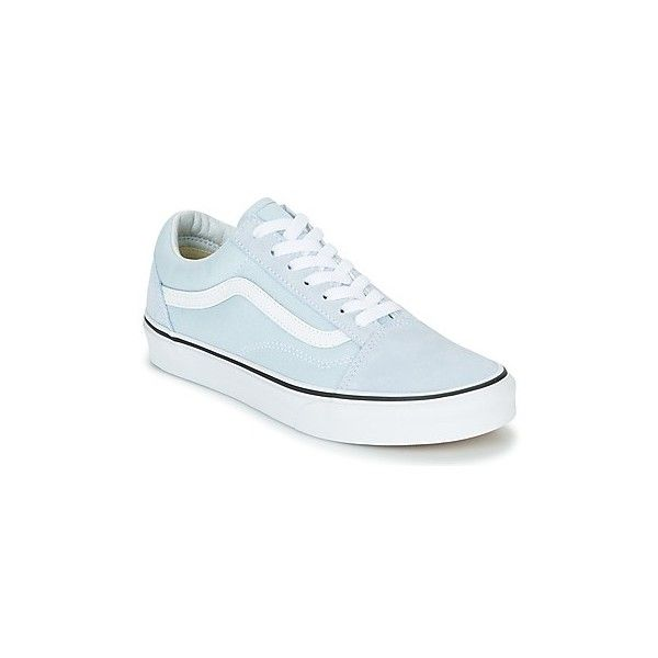 Vans OLD SKOOL Shoes (Trainers) (135 NZD) ❤ liked on Polyvore featuring shoes, sneakers, blue, trainers, women, blue trainers, blue leather sneakers, vans shoes, vans sneakers and vans trainers
