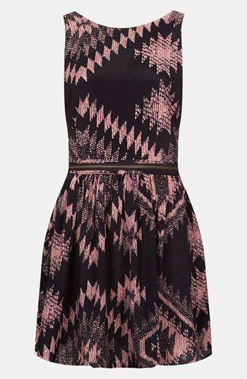 Topshop Ikat Print Pinafore Dress (Petite) available at #Nordstrom