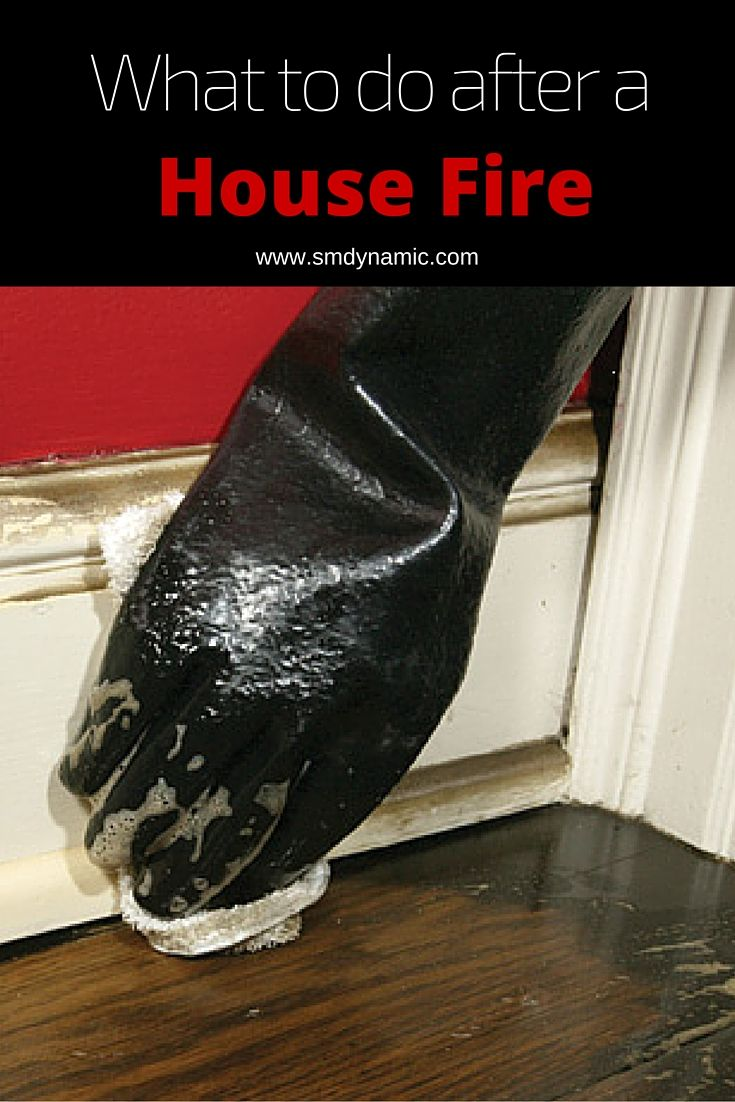 What to do after a house fire. Even after a fire has been put out, residual smoke and soot can continue to burn materials through a chemical process call etching or pitting. Improper cleaning can leave lingering residue behind that continues to damage your home and belongings.