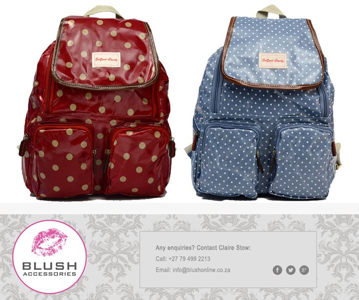 Be daring and get yourself one of the gorgeous So Good Candy backpacks available in a variety of colours at #Blush. You will be turning heads everywhere you go. #SoGoodCandy #BlushSA