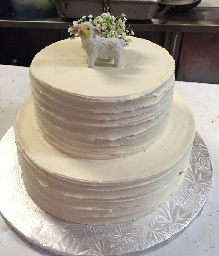 Lamb cake - simple christening cake