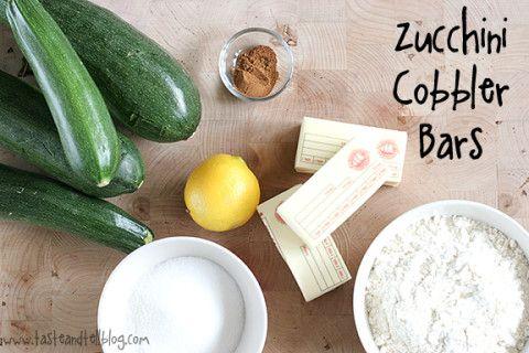 Zucchini Cobbler Bars | www.tasteandtellblog.com