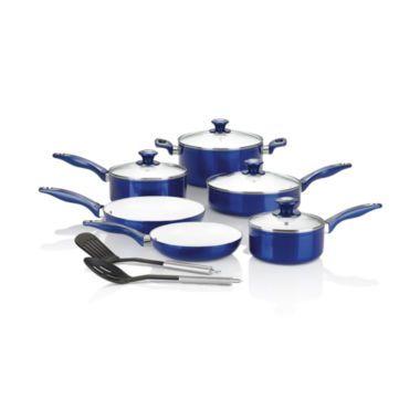 Cooks 12 Pc Ceramic Nonstick Cookware Set Found At