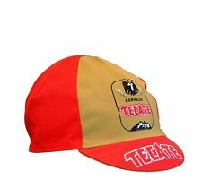 NEW Bella Capo Cycling/Bicycle Cap - Red & Gold Tecate Design - Made in Italy