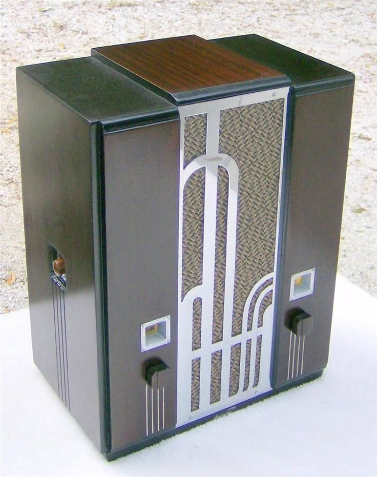 1934 Majestic 161 Art Deco Chrome Grille Tombstone Radio Fully Restored | eBay