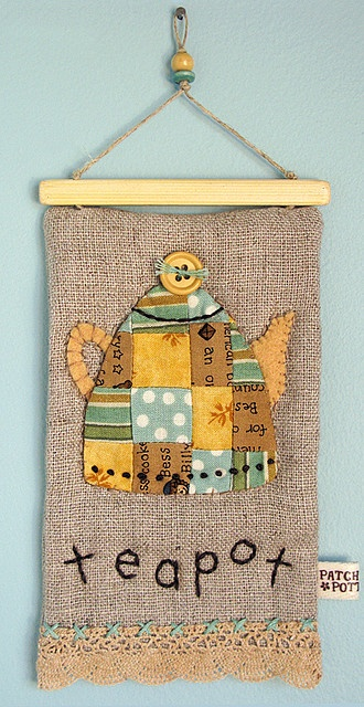 Sooo cute. By Patchwork Pottery