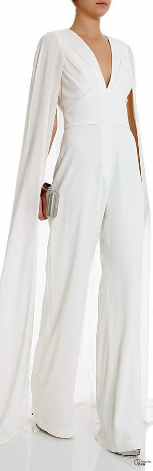 White elegant jumpsuit